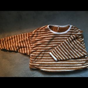 Free People striped pullover M